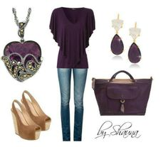 Purple outfit, minus shoes...eww