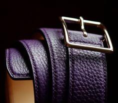 Bespoke hand sewn belt
