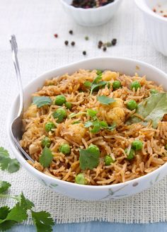 Tahiri-Dum cooked Basmati Rice with Black Beans.....A one pot meal of basmati rice & vegetables cooked low & slow with indian black spices. Yum!!