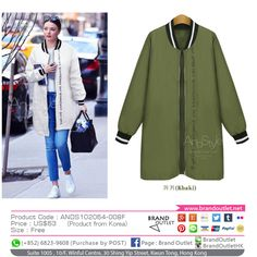 Product Code: ANDS102064-008F Item Description: AndStyle Khaki Word-Print Coat Price: US$63 Size: Free WhatsApp: (+852) 6823-9608 (Purchase by POST) Tel: (+852) 3188-4878 Address: Suite 1005 , 10/F, Winful Centre, 30 Shing Yip Street, Kwun Tong, Hong Kong Website: www.brandoutlet.com.hk Facebook: Brand Outlet Email: info@brandoutlet.clothing #korea #koreaclothes #koreanfashion #koreanmodel #madeinkorea #onlineshop #onlineshopping #summer #style #dress #top #seoul #onepiece #brandoutle