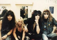 Vince Neil & Nikki Sixx from Motley Crue and two of the guys from Stryper