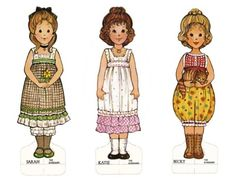 Omigosh - I HAD these paper dolls when I was a little girl ! And if the internet & blogs had existed back then ... this paper doll site would've been my favorite. I was the queen of paper dolls!