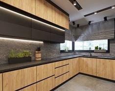 Solid Wood Kitchen Cabinets, Solid Wood Kitchens, Walnut Kitchen, Black Kitchens, Home Kitchens, Küchen Design, House Design, Interior Design, Kitchen Diner Extension