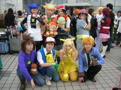 Guessing its mix of the new and the old pokemon. Taken at FuyuComi Picture Taken By: Pokemon Group Pokemon Ash Ketchum, Old Pokemon, Pokemon Costumes, Cool Costumes, Video Games, Tv Shows, Cosplay, Nerdy, Cartoons