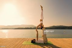View top-quality stock photos of Acroyoga Star Pose. Find premium, high-resolution stock photography at Getty Images. Acro, Royalty Free Images, Poses, Stock Photos, Sunset, Sport, Nature, Projects, Photography