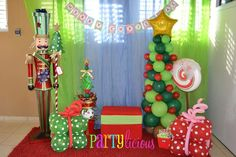 Partylicious E's Christmas/Holiday / Christmas Party - Photo Gallery at Catch My Party School Christmas Party, Christmas Birthday Party, Grinch Christmas, Christmas Party Decorations, Christmas Photos, Christmas Holidays, Company Christmas Party Ideas, Xmas Party Ideas, Christmas Party Backdrop
