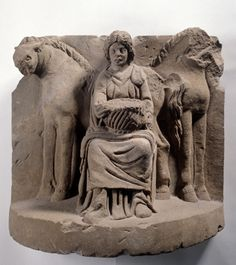 Relief of the enthroned goddess Epona, 2nd century A.D.