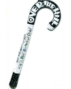 """""""Over The Hill"""" Inflatable Cane 40th 50th 60th 70th 80th Novelty Birthday Gift"""