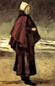 Fisherman's Wife on the Beach par Vincent van Gogh
