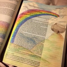Bible Journaling Genesis   God's Promise  Noah's Ark Rainbow Bible Art