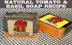 DIY Natural Homemade Tomato and Basil Homemade Soap Recipe with Printable Labels - This is great for those overripe tomatoes from your garden!