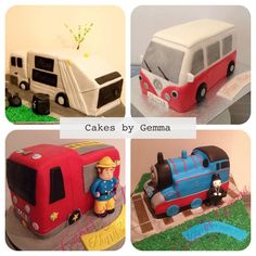 Vehicle cakes :)