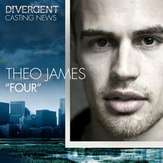It has been officially confirmed that Theo James will be playing the role of Four in Divergent.