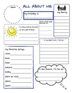 All About Me Printable Back in the Saddle Again... - Mrs. Collier's Classroom