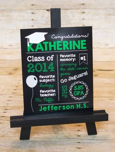 Graduation Chalkboard Sign, Grad Party Sign, Party Décor, High School Graduation, Middle School Graduation Sign by Chalkolate Cake
