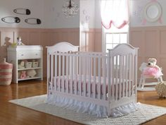 The Adorable Fisher-Price Charlotte Crib in Blush. Perfect for a sweet, girly nursery!