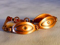 Vintage Copper Evil Eye Bracelet    6 Inch by GemstoneCowboy on Etsy