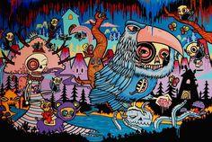 http://creativepool.com/lochnessart  Graffiti art