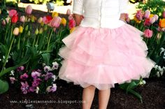 Extra fluffy, less fabric, tulle skirt. GREAT for princess dresses for Halloween! They just need to be made a bit longer :)