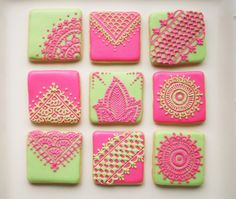 Henna Inspired Sugar Cookies in Assorted by CrumbelinaCookies