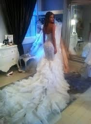 Steven khalil. Love his gowns! Love the long train... so stunning!