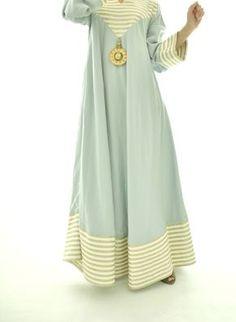 Long light blue dress