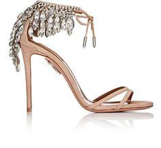 AQUAZZURA Eden Suede Ankle-Tie Sandals. #aquazzura #shoes #