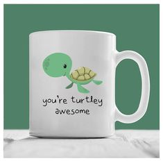 Turtle Mug You're Turtlely Awesome Awesome Mug by DragonBabyDesign