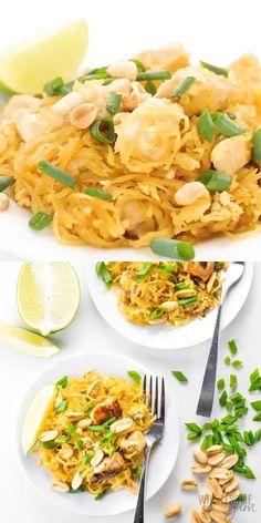 Vegetarian Menu, Low Carb Vegetarian Recipes, Healthy Pasta Recipes, Low Carb Recipes, Cooking Recipes, Paleo, Alfredo Sauce Recipe Easy, Spaghetti Squash Recipes, Spaghetti Squash Pizza