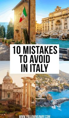 7 Big Mistakes To Avoid When Planning A Trip To Italy 10 Mistakes To Avoid In Italy & how to travel in italy like a pro & travelers guide to [& Cool Places To Visit, Places To Travel, Places To Go, Travel Destinations, Vacation Places, Eurotrip, Italy Vacation, Italy Trip, Italy Travel Tips