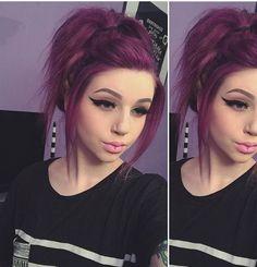 Dark Purple Hair Color Ideas 26 Best Dark Purple Hair Color 2017 Of 79 Amazing Dark Purple Hair Color Ideas Dark Purple Hair Color, Cool Hair Color, Hair Colors, Purple Wig, Hair Color 2017, Plum Hair, Teal Hair, Corte Y Color, Coloured Hair