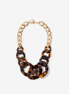 Uterqüe España Product Page - Última semana - Collar eslabones carey - 69