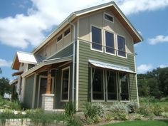 Interesting mix of materials on this passive solar home