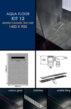 Wet Room Tanking Kit 12 with Channel Drain (84M)