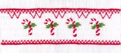 "CEC- ""Sweet Candy Canes"" Smocking Plate by Crosseyed Cricket"