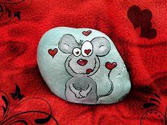 Kamienok Zamilovaný myšiak by -ELYN- - SAShE.sk - Handmade Valentín