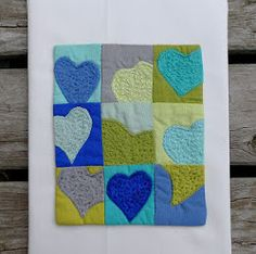 A Heart of Sea Glass Mini Quilt | FaveQuilts.com