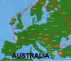 How big is Australia... wow!