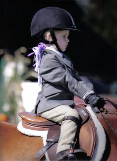 Perfect form on this serious little rider!