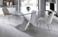 Mesa de comedor cristal templado - Mesa de comedor de cristal templado