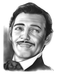 Portrait Mastery - Clark Gable by gregchapin. on Discover The Secrets Of Drawing Realistic Pencil Portraits Celebrity Caricatures, Celebrity Drawings, Celebrity Portraits, Pencil Portrait, Portrait Art, Pencil Drawings, Art Drawings, Clark Gable, Black And White Drawing