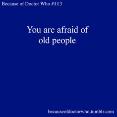 Because of Doctor Who!!