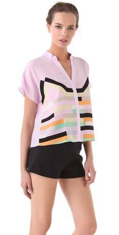 lovely print blouse