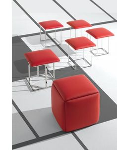 Ottoman turns into 5 chairs! Clever Space Saver from Expand Furniture