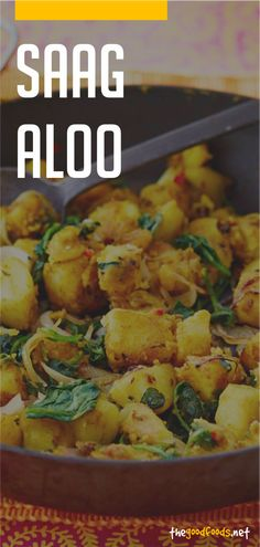 Saag Aloo Recipe Aloo Recipes, Curry Recipes, Aloo Saag Recipe, Vegetarian Curry, Vegetarian Recipes, Whole 30 Recipes, Free Recipes, Indian Food Recipes, Real Food Recipes