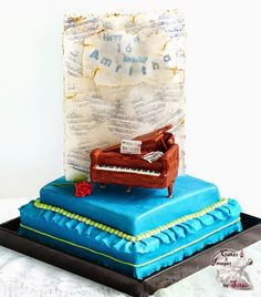 As usual this is not my initial design it had much more. so much more on it but TIME. time (only 3 days start to finish). 16 Birthday Cake, 16th Birthday, Saxophone, Cake Creations, Piano, Cakes, Desserts, Tailgate Desserts, Sweet 16 Birthday