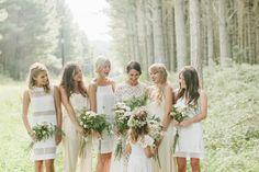 The Enchanted Forest / Wedding Style Inspiration White Bridesmaid Dresses, Bridesmaid Flowers, Wedding Bridesmaids, Wedding Dresses, Bridesmaid Inspiration, Wedding Inspiration, Wedding Ideas, Wedding Stuff, Style Inspiration