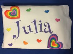 Personalized Gift Toddler Size Pillowcase by SusansCreations4U