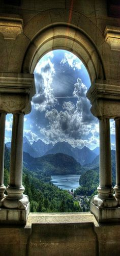 Neuschwanstein Castle (German: Schloss Neuschwanstein) is a 19th-century Romanesque Revival palace on a rugged hill above the village of Hohenschwangau near Füssen in southwest Bavaria, Germany.