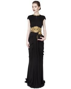 Alexander McQueen ~ Embellished Backless Drape Gown